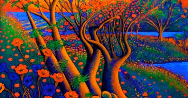 Psychedelic art nature color