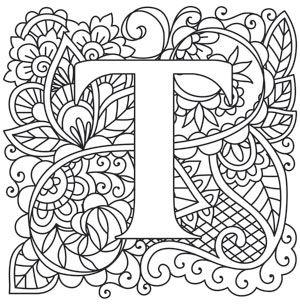 Mendhika Letter T Coloring Letters Lettering Alphabet Coloring Pages