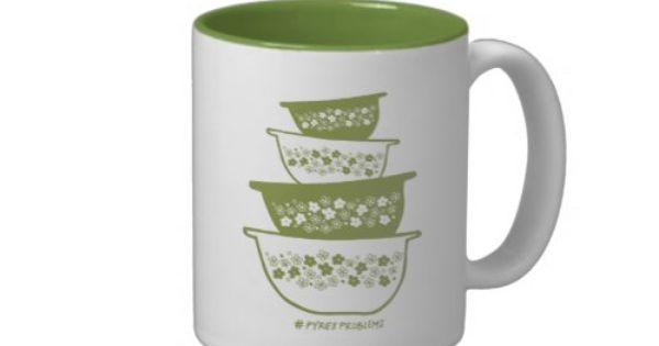 dae6f78611a02124d8b5ce0ef93d75c4 Pyrex Coffee Mug Spring Blossom Inspired Pyrex Two Tone Coffee Mug Zazzle