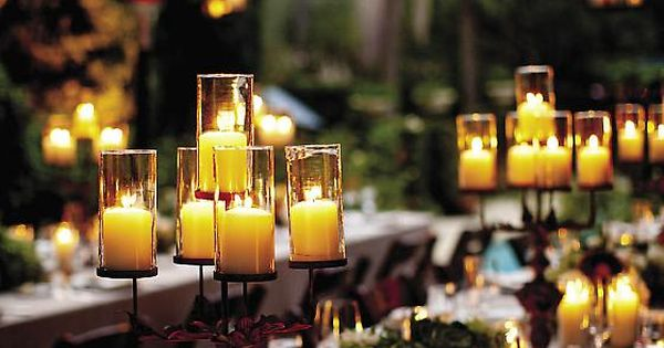Dinner Party with lovely candles and lanterns! SO Beautiful!