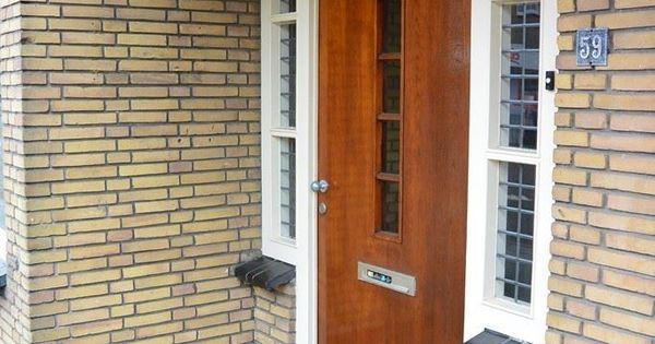 Mooie overdekte entree naar een jaren 39 30 woning met terrazzovloer - Versier een entree ...