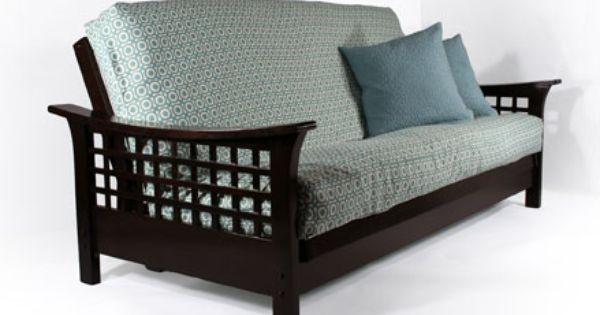 Trelli Black Walnut Queen Wall Hugger Futon Frame Kd By Strata Furniture Furniture Futon Frame Futon Sofa