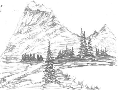 Peaceful Mountain Landscapes Mountain Landscape Mountain Drawing Landscape Drawings