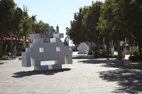 Hip To Be Square Space Invaders Art Sculpture Projects Public Art