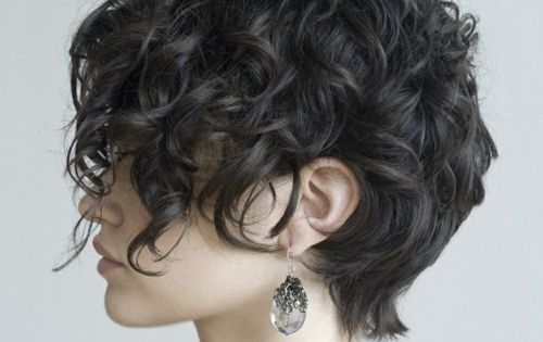 women's short hair / curly hair style for short hair. I have