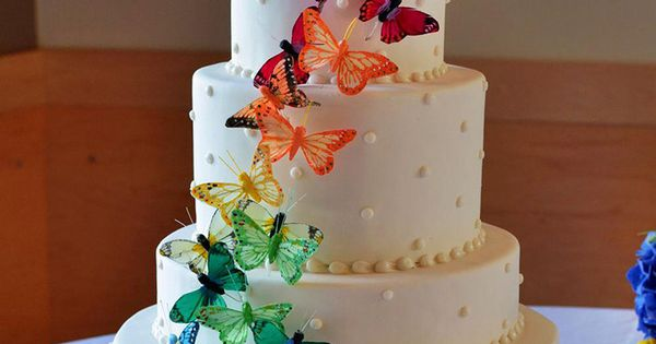 rainbow butterfly wedding cake rainbow wedding cakes butterfly wedding cake wedding 18957