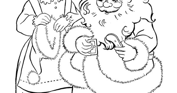 These Coloring Pages Of Santa Claus Are Just A Few Of The