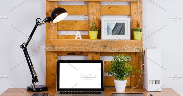 DIY workspace make with pallet