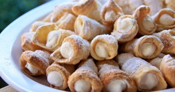 Puff pastry cream horns... Aka cream puffs... Ahaha