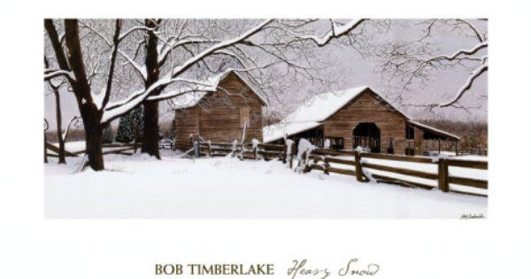 Heavy Snow By Bob Timberlake Bob Timberlake Art