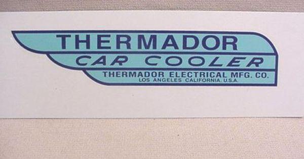 Old School Thermador Swamp Car Cooler Decal Free Ship Motorfietsen