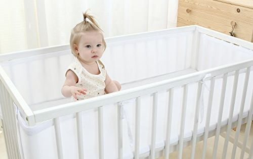 Color White Bbtkcare Mesh Crib Liner Le8101 Breathable And Safe Lead Free Material 100 Polyester And Baby Crib Bumpers Crib Liners Baby Crib Bedding Sets