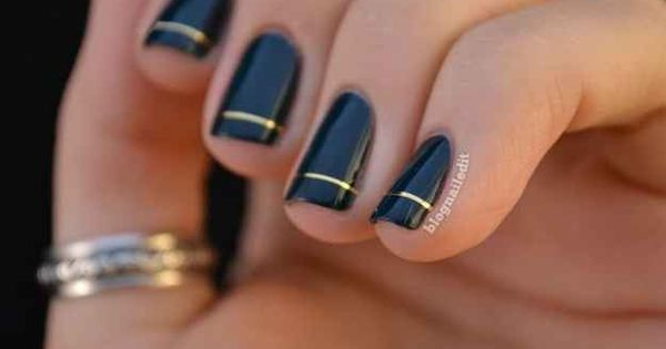 fall nails | Fall trend for your nails … basic black nails
