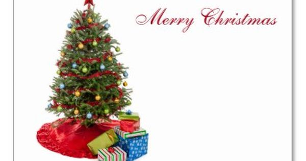 Christmas Tree Card - christmas cards merry xmas family party