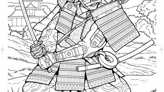 Samurai coloring page Coloring Pages Pinterest