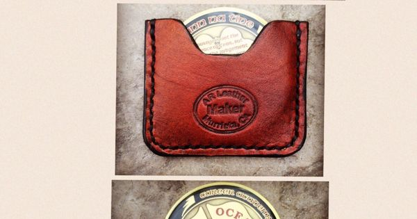 Created a leather challenge coin holder. Keeps it ...