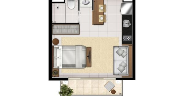 Small apartment layout projeto Pinterest Petits appartements