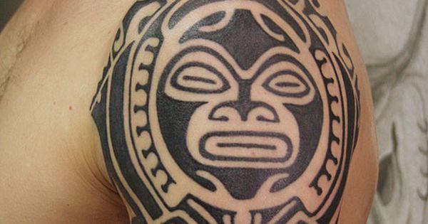 unique tribal tattoo on sleeve aztec tribal tattoo design on sleeve cvcaz tattoo art ideas. Black Bedroom Furniture Sets. Home Design Ideas