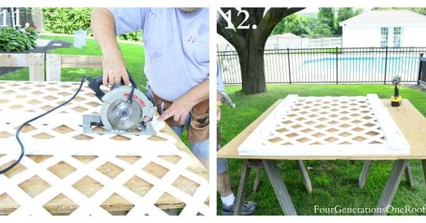 Lattice Privacy Screen For Trash Cans
