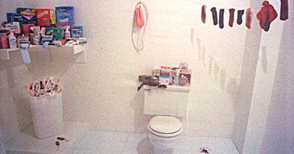 Judy chicago womanhouse menstruation bathroom art for Judy chicago menstruation bathroom