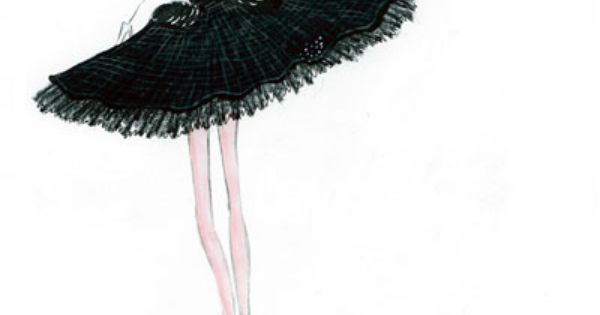 Black swan dress sketch... must have!