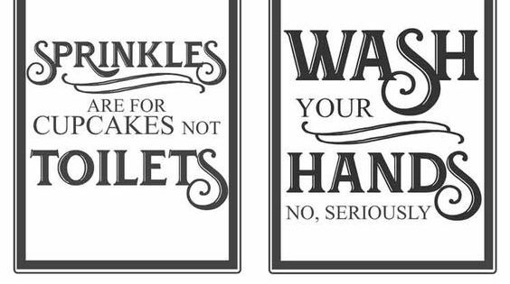 Free Vintage Inspired Bathroom Printables-funny Quotes To