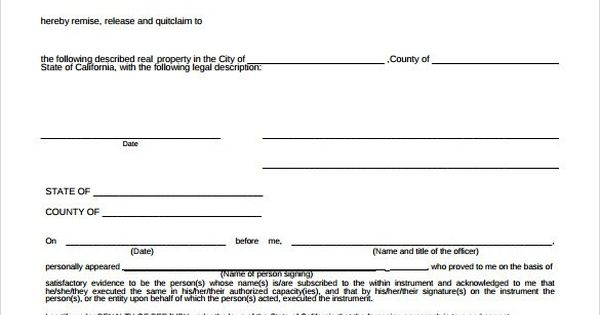 Sample Quitclaim Deed Form u2013 10 Free Documents in PDF, Word - quick claim deed form