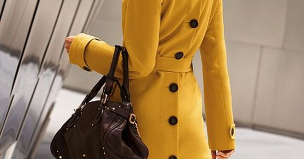 Colorful, structured trench coat trench coats for women styling tips