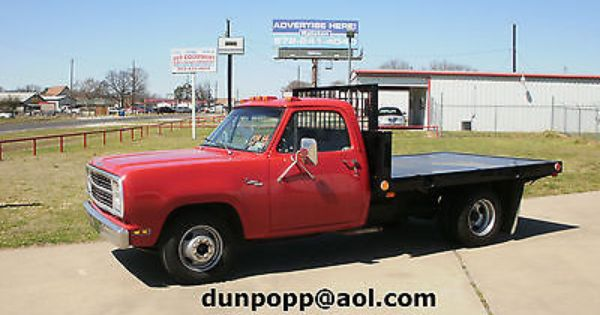 Dodge 1 Ton Flatbed 1980 Dodge 1 Ton Flatbed Pickup