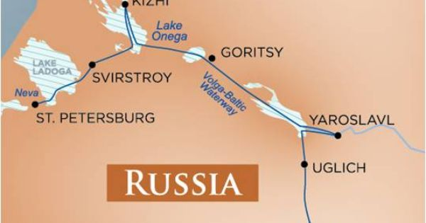 Russia River Cruise Map On The Volga Baltic Waterway This