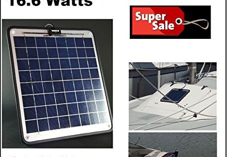 Solar Battery Charger 16 6 Watt 1 Amp Boat Rv Marine Trolling Motor Solar Panel 12 Volt No Experience Plug Play Design Dimensions 14 1 Solar Panels Solar Installation Solar Powered Generator