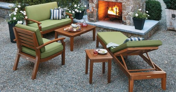 Smith and hawken brooks island courtyard ideas for Smith hawken teak furniture