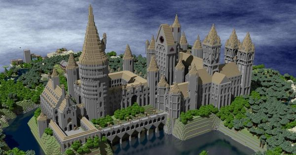 Eight Literary Worlds Recreated In Minecraft Minecraft Castle Hogwarts Minecraft Harry Potter Minecraft