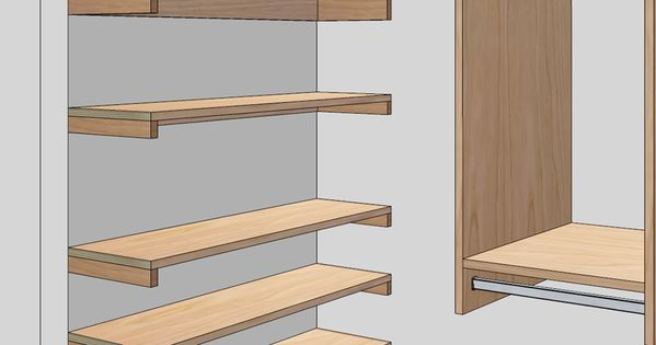 Free Woodworking Plans To Build A Custom Closet Organizer
