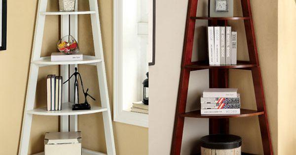 Lyss 5-Tier Corner Ladder Bookcase Shelf