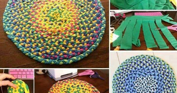 Alfombras 2 ideas manualidades pinterest ropas de - Alfombras para el hogar ...
