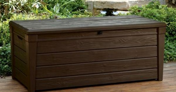 Woodgrain 120 Gallon Deck Box At Menards 150 Yard Dreams Pinterest Decks Home Decor And
