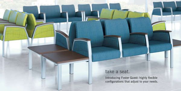 Chic Continuous Chairs Waiting Room Seats Medical Office Decor