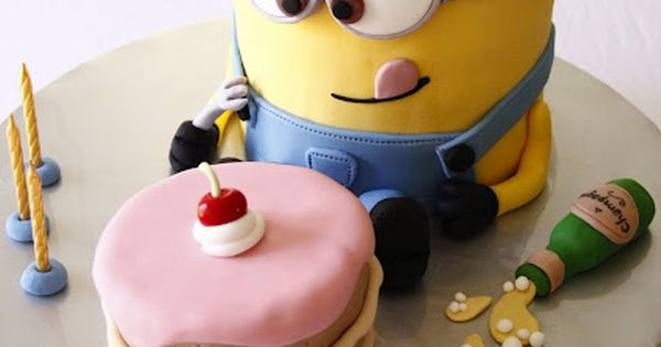 #minion despicableme birthday cake birthdaycake vanilla lemon icing sugar fondant decoration design