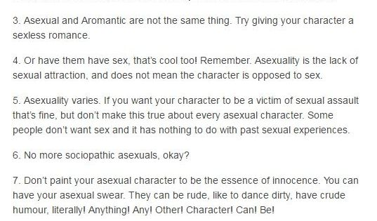 Writing an Asexual Character