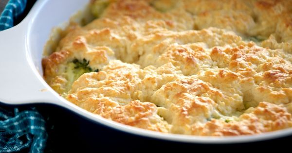 A quick & cheesy Chicken Pot Pie recipe that uses no canned