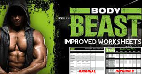 New and improved Body Beast worksheets! No more wasted paper or ...