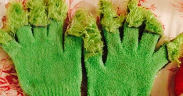 How to make grinch gloves. I bought a pair of lime green ...