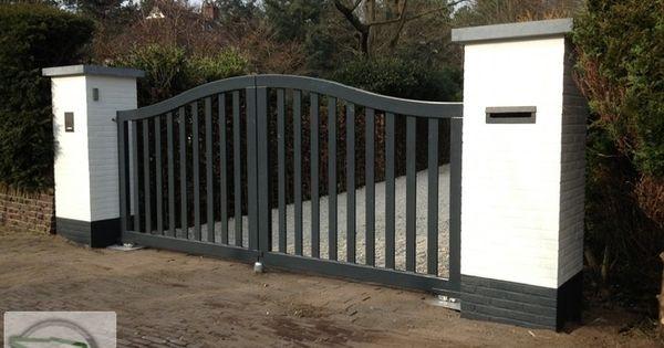 Prefab toegangspoorten van siersmederij beentjes bv uit alkmaar poort hekwerk elektrisch hek - Eigentijds tuinmodel ...
