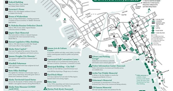 Downtown Map Of Juneau Alaska Pdf Download With Images