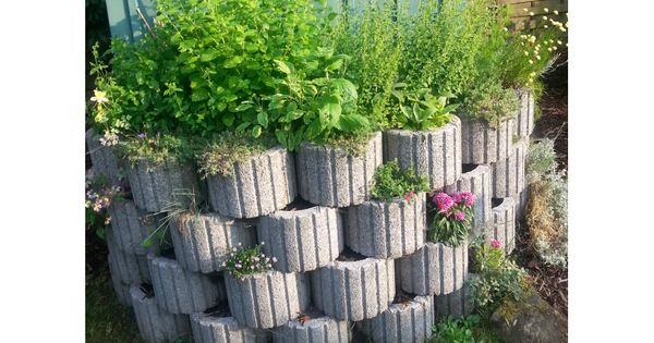 Toom Kreativwerkstatt Hochbeet Aus Pflanzsteinen Garten Bepflanzen Gartengestaltung Pflanzstein