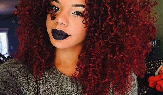Burgundy Red Hair Curls African American Http Www