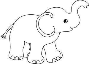 Elephant Clipart Image Cute Cartoon Baby Elephant Drawing Baby Elephant Drawing Elephant Drawing Elephant Outline