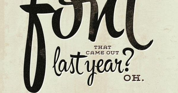 Hipster font by Ale Paul, via Behance fun design font