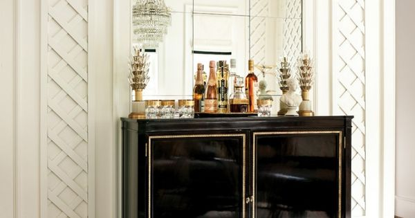 The Beginner 39 S Guide To Setting Up A Bar At Home House Tours Atlanta Homes And Cabinets